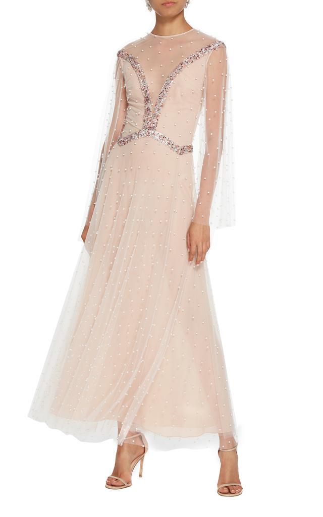 Sandra Mansour M'O Exclusive Embellished Tulle Dress