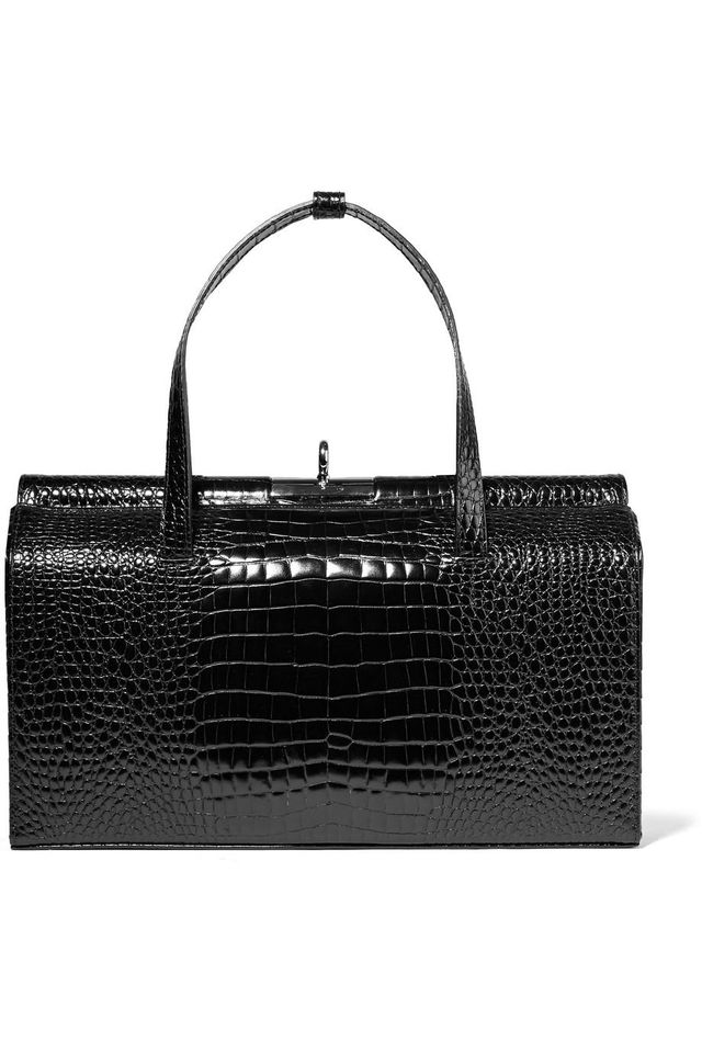 Gu_de Margot Croc-Effect Leather Tote