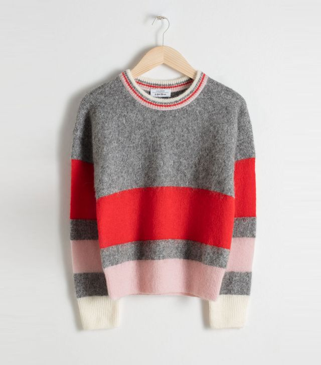 & Other Stories Striped Chunky Knit Sweater 59