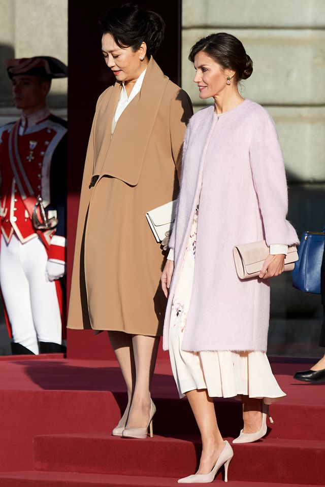 Queen Letizia of Spain with the First Lady of China