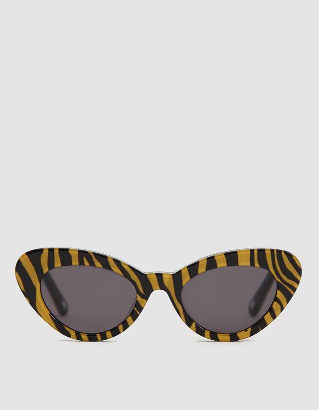 Chimi Eyewear Tiger Round Stripe Sunglasses
