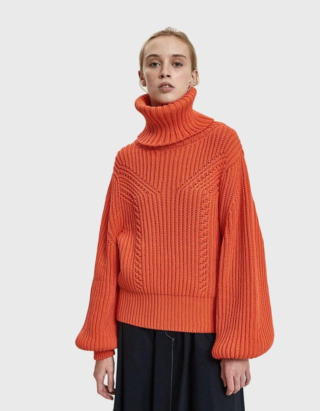 Rodebjer Richa Turtleneck Sweater in Blood Orange