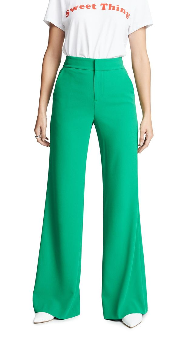 Alice and Olivia Dylan High Waisted Clean Fit Pants