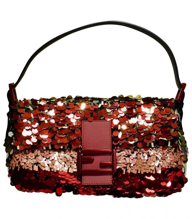 Fendi Baguette Glitter Clutch Bag 4c63459c69e4