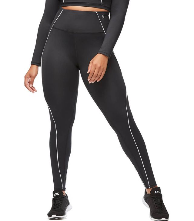 Good American Piped High Waist Leggings
