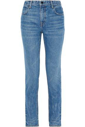 Alexander Wang Faded High-Rise Slim-Leg Jeans