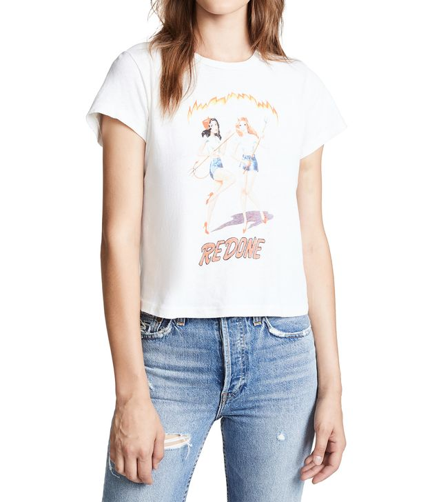 RE/DONE Classic Tee with Devil Girls
