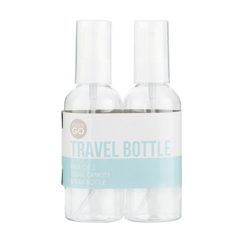 Kmart 2 Pack Spray Travel Bottles