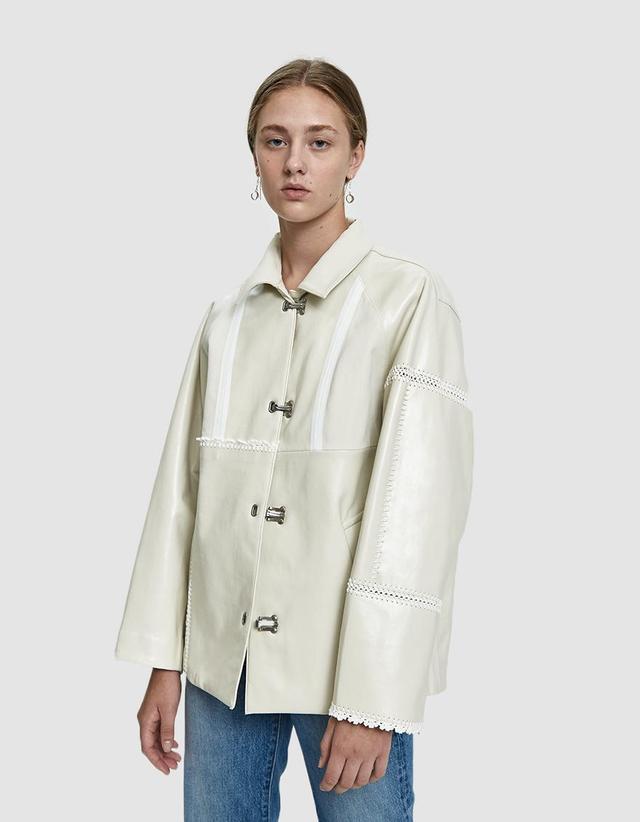 3.1 Phillip Lim Oversized Embroidery Rain Jacket