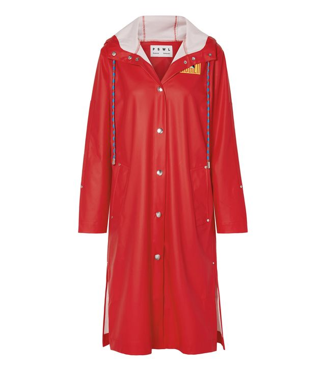 Proenza Schouler PSWL Hooded Printed Rubber Raincoat