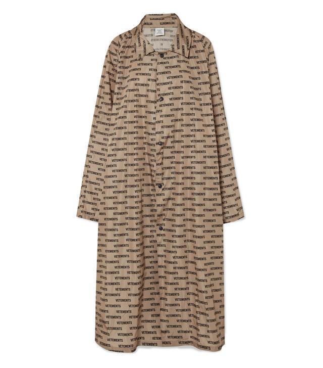 Vetements Printed Coated-Shell Raincoat