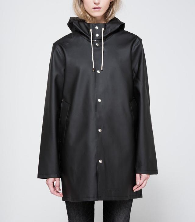 Stutterheim Stockholm Rain Coat in Black