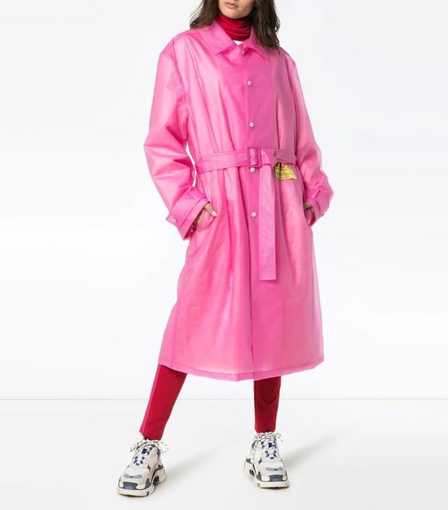 Martine Rose Patch Embellished Belted Rain Coat