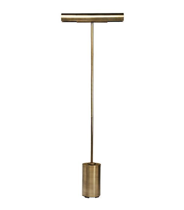 CB2 Lectura Antique Bronze Floor Lamp