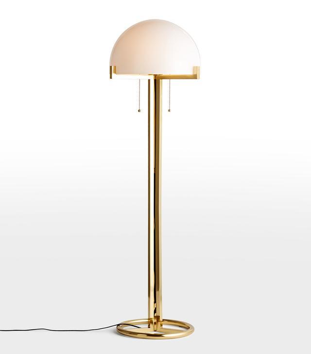 Rejuvenation Altadena Glass Shade Floor Lamp