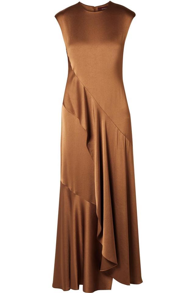 Sies Marjan Zariah Draped Satin-crepe Maxi Dress