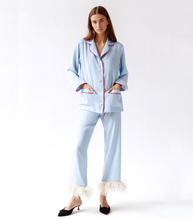 Sleeper Light Blue Christmas Pajamas
