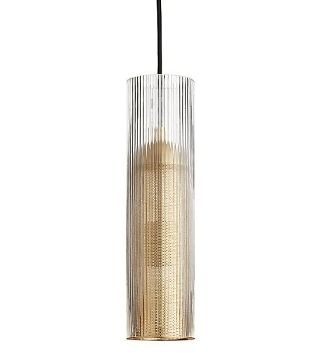 CB2 Striae Ribbed Glass Pendant Light