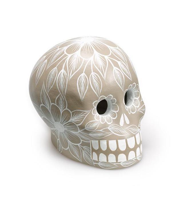 St. Frank Gray Day of the Dead Skull