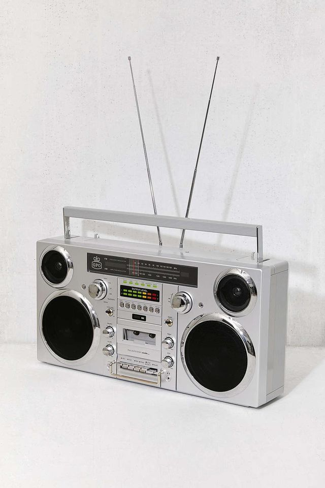 GPO Brooklyn Portable Boombox + Music System 30th Birthday Ideas