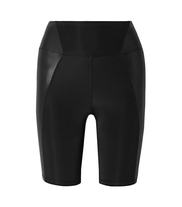 Heroine Sport Biker Paneled Stretch Shorts