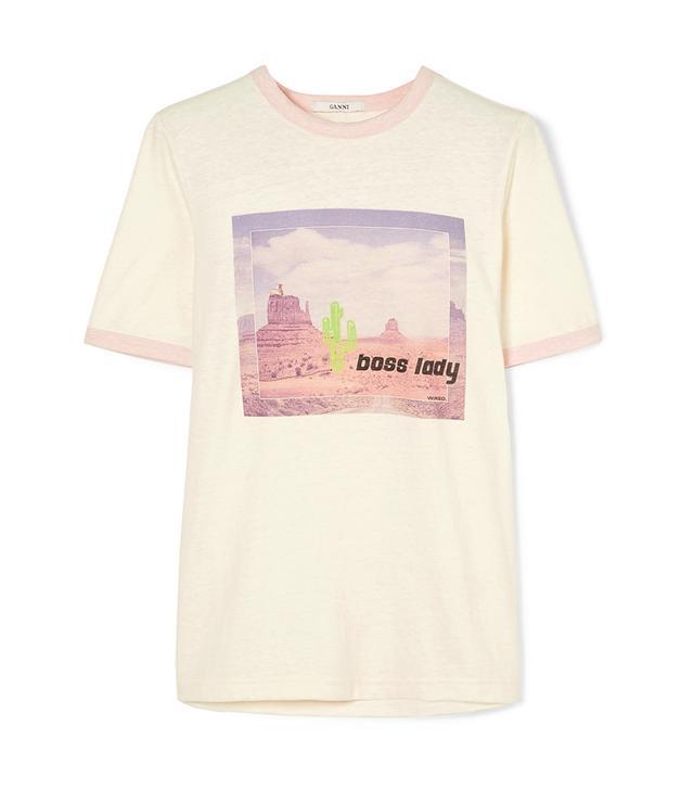 Ganni Ranger Printed Jersey T-Shirt