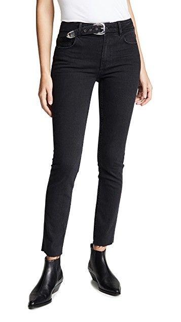 Paige Hoxton Ankle Peg Jeans With Belt