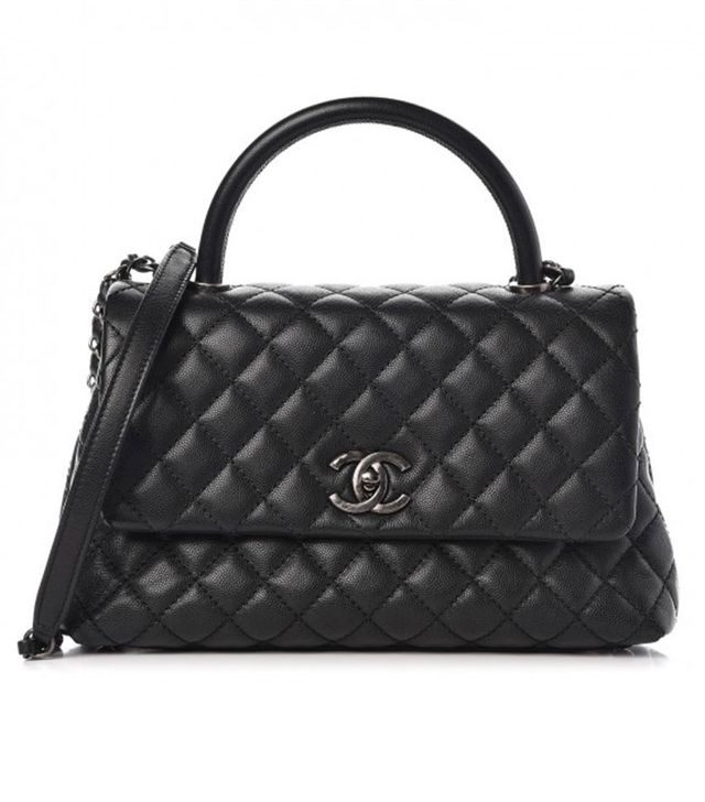 Chanel Caviar Quilted Small Coco Handle Flap Bag