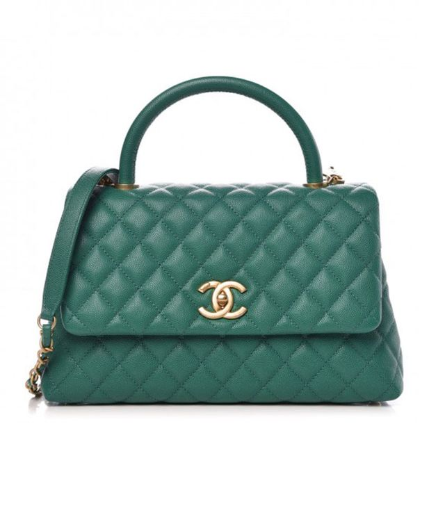 Chanel Cavier Quilted Coco Handle Bag