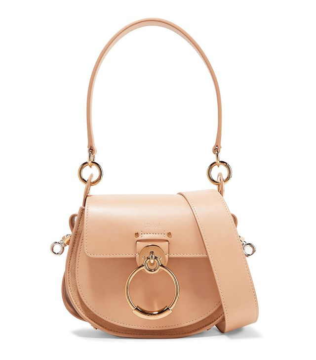Chloé' Tess Small Leather and Suede Shoulder Bag
