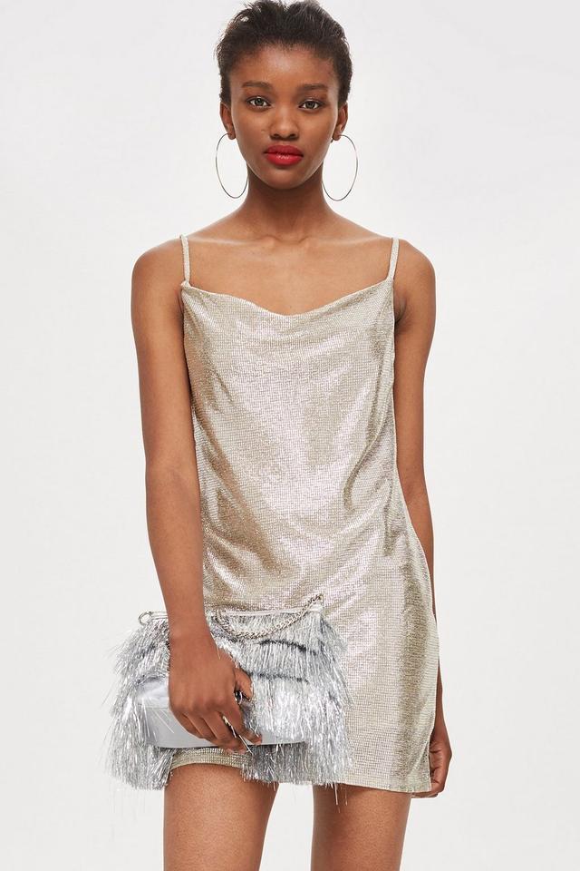 Topshop Cowl Neck Party Dress