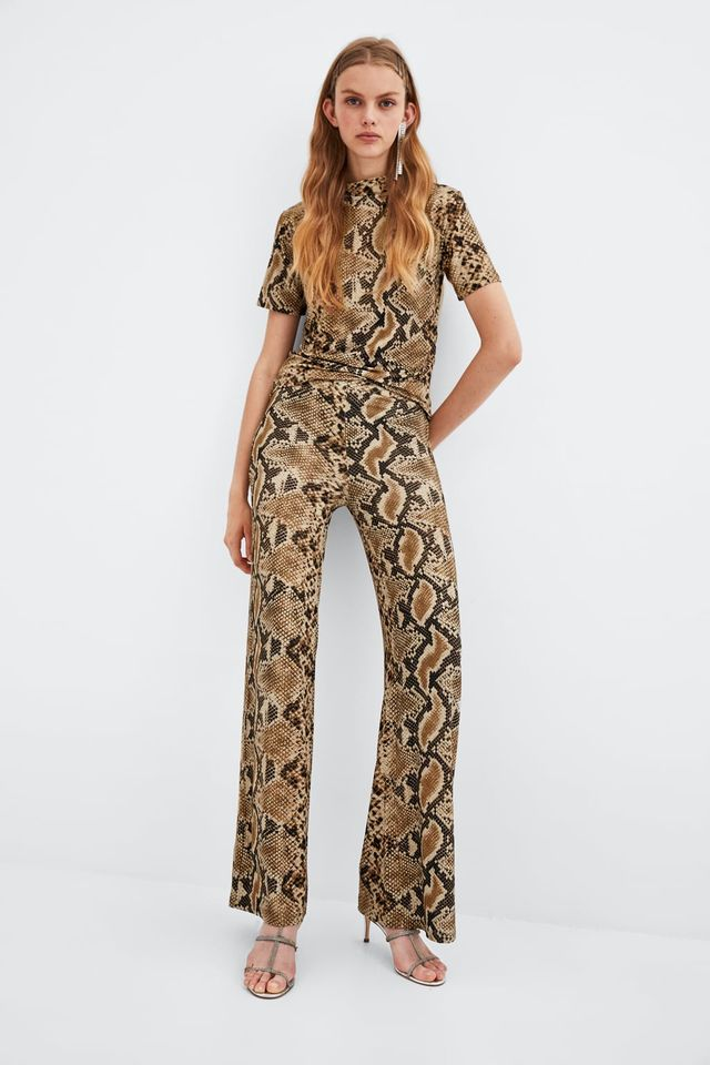 Zara Snakeskin Trousers