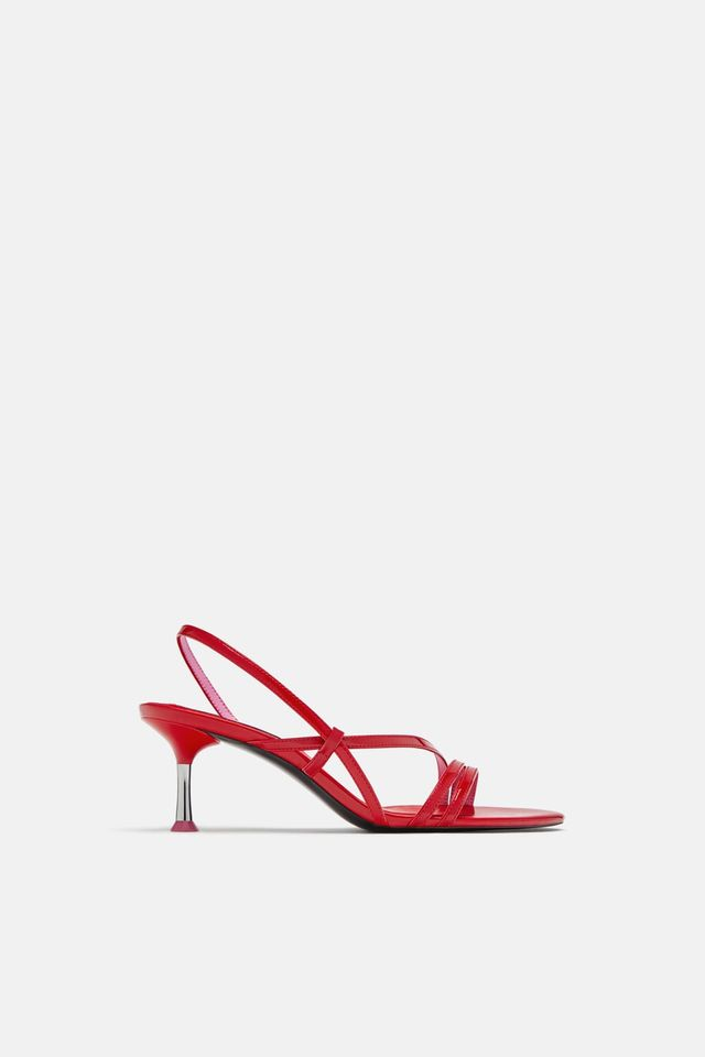 Zara High-Heel Strappy Sandals