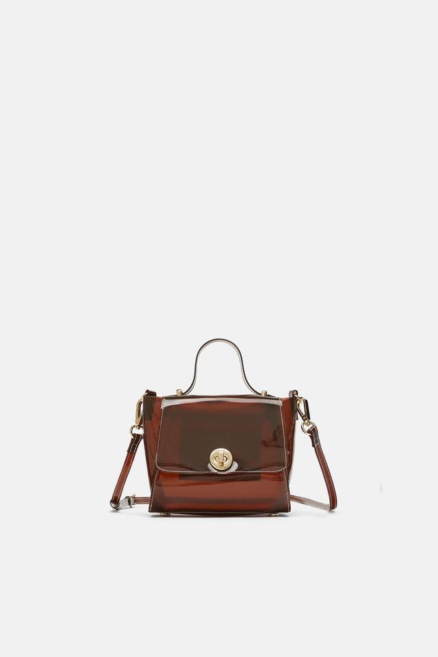 Zara Vinyl Mini City Bag