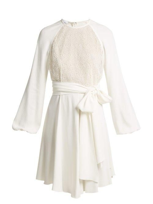 Giambattista Valli Pois Lace and Crepe Mini Dress