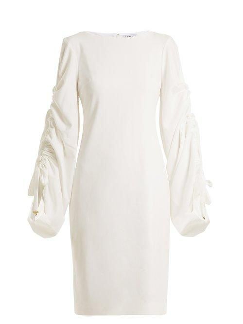 Osman Talitha Gathered Sleeves Dress