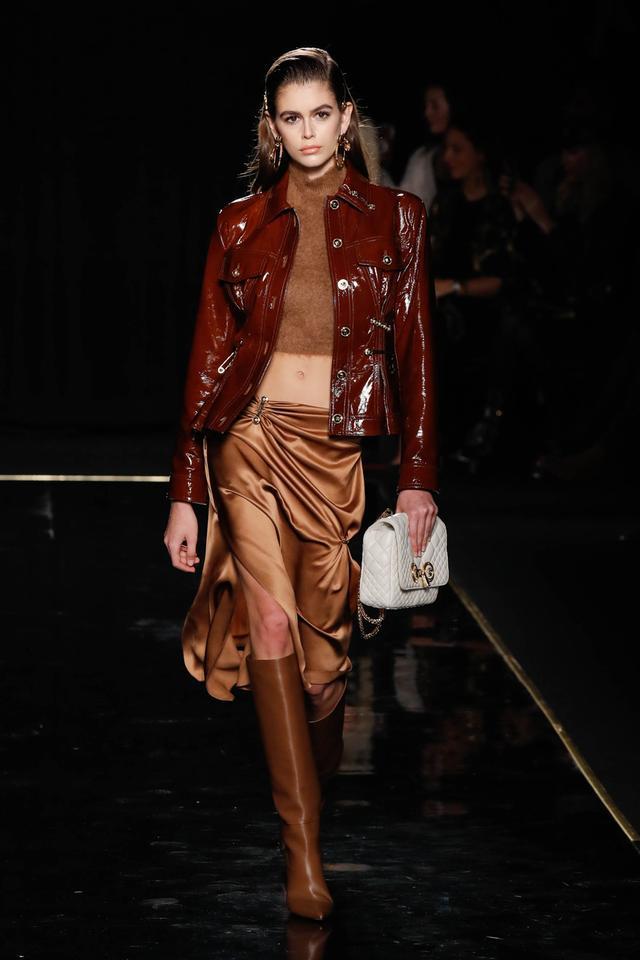 Kaia Gerber Versace runway