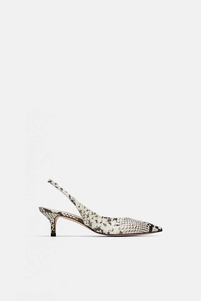 Zara Leather Slingback Shoes