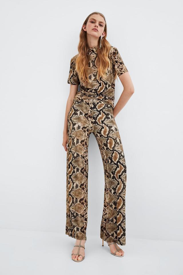 Zara Snake Print T-Shirt