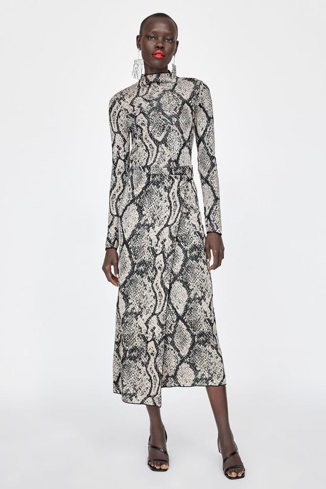 Zara Animal Print Knit Sweater