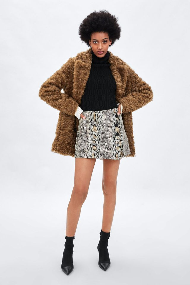Zara Skort With Buttons