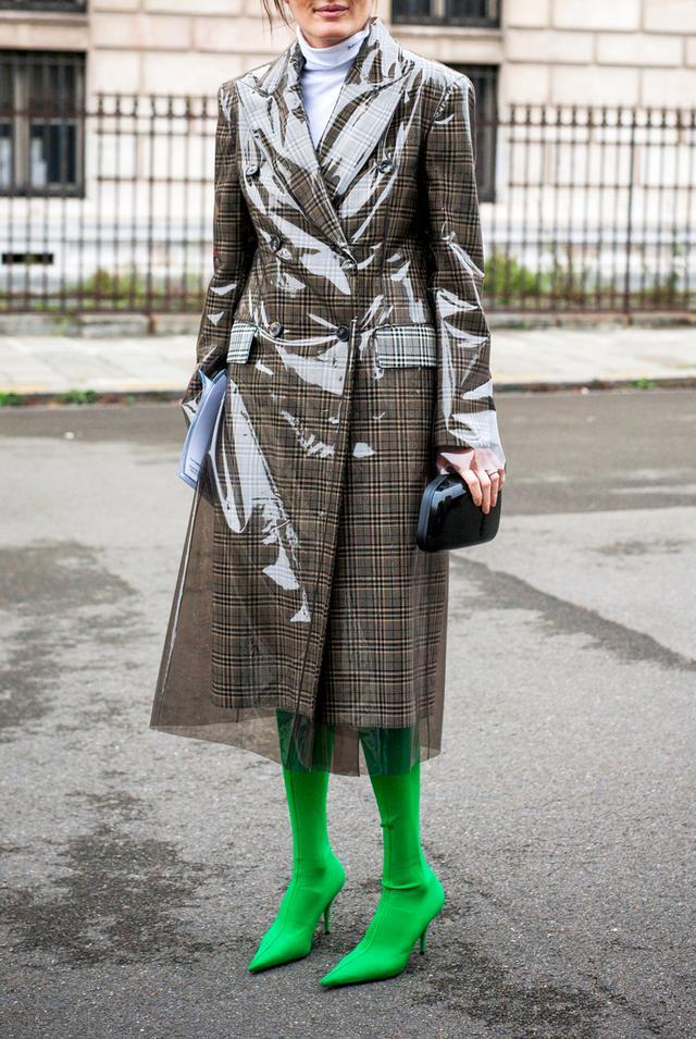 Slime Green Street Style