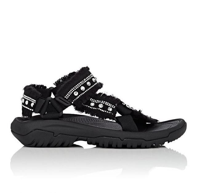 Area Crystal-Embellished Nylon Sandals