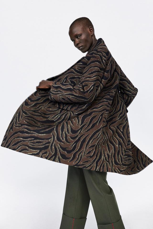 Zara Animal Print Coat