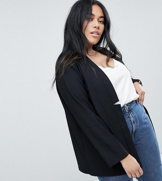 ASOS Curve Tailored Easy Chuck On Blazer