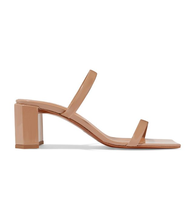 By Far Tanya Patent-Leather Sandals