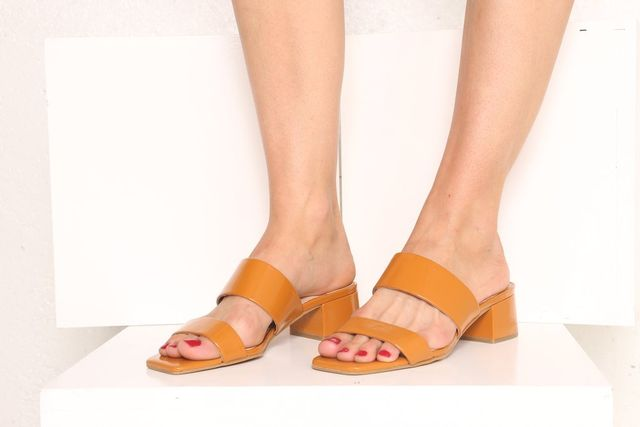Intentionally Blank The Scamp Patent Leather Sandal