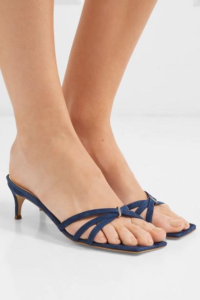 By Far Libra Suede Sandals