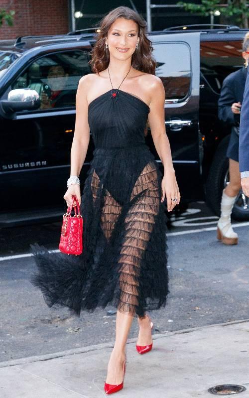 Bella Hadid Black Dress