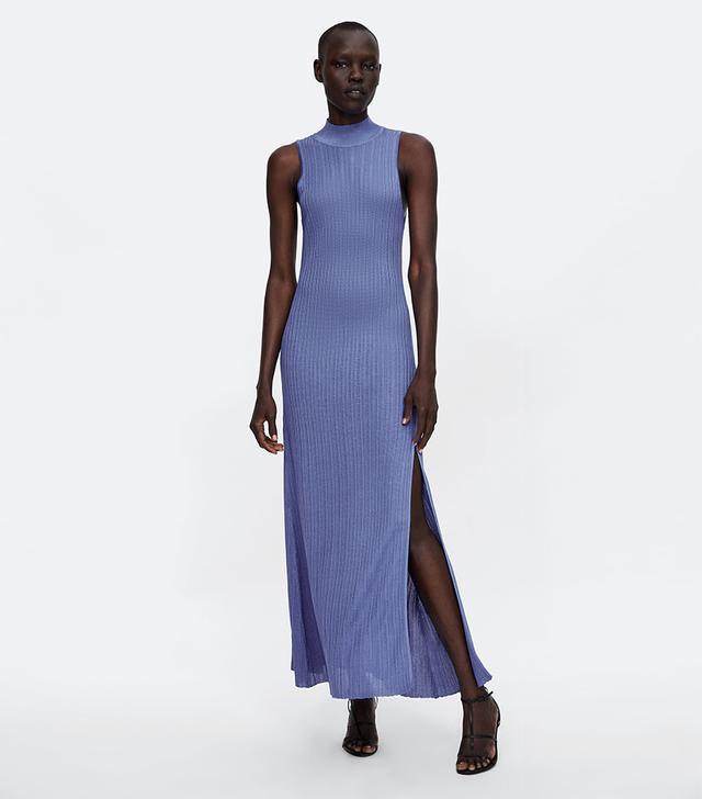 Zara Knit Mock Neck Dress